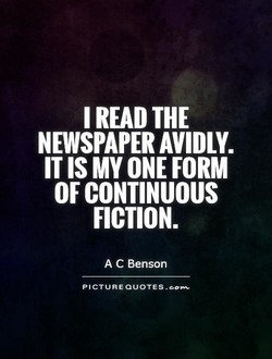I READ THE 