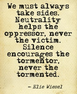 We must always 