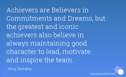 Achievers are Believers in 