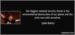 Our biggest national security threat is the 