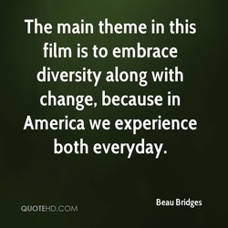 The main theme in this 