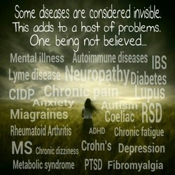 Some diseases ore considered Invisible 