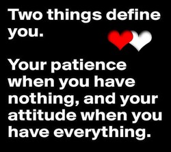 Two things define 