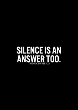 SILENCE IS AN 