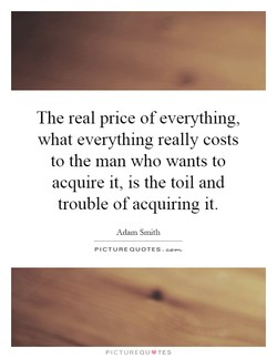 The real price of everything, 