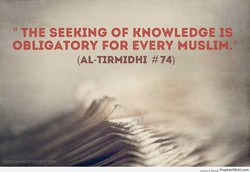 THE SEEKING OF KNOWLEDGE ts 