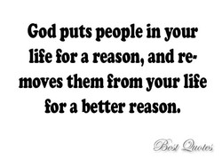 God puts people in your 