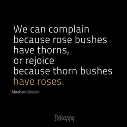 We can complain 