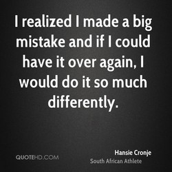 I realized I made a big 
