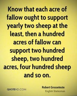 Know that each acre of 
