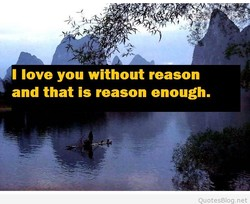 I love you without reason 