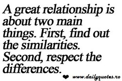 A geat relationship is 
