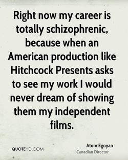 Right now my career is 