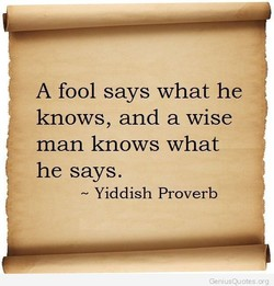 A fool says what he 