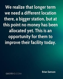 We realize that longer term 