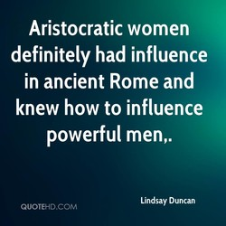 Aristocratic women 
