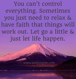 You can't control 