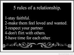 5 rules of a relationship. 