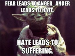 FEAR LEADS—ERYANGER LEADS'TO HATE. HATE LEADS'TO SUFFERING.