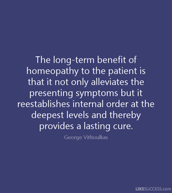 The long-term benefit of 