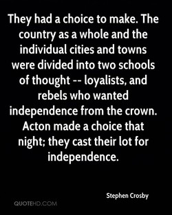 They had a choice to make. The 