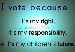 I vote because... 