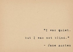 was quiet, 