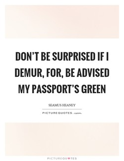 DON'T BE SURPRISED IF I 