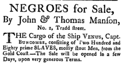 NEGROES for sale, 