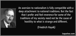 An aversion to nationalism is fully compatible with a 