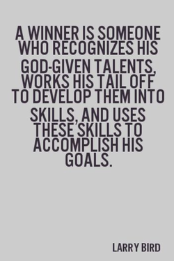 A WINNER IS SOMEONE 