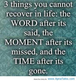 3 things you cannot 