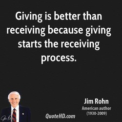Giving is better than 
