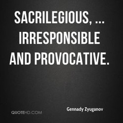 SACRILEGIOUS, ... 