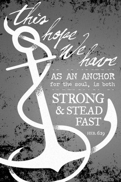 AS AN ANCHOR 
