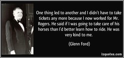One thing led to another and I didn't have to take 