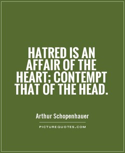 HATRED IS AN 