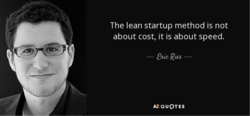 The lean startup method is not 
