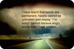 I have learnt that words are 