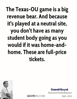 The Texas-OU game is a big 