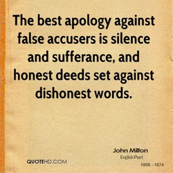 The best apology against 