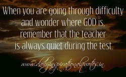 When areqoinq throuqh difficulty 