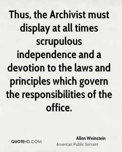 Thus, the Archivist must 