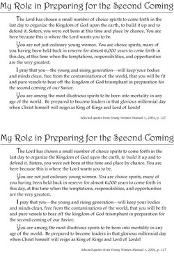 mg Role in Preparing for the Second Coming 