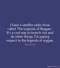I have a satellite radio show 