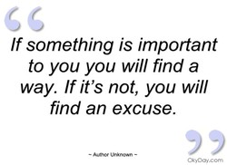 If something is important 
