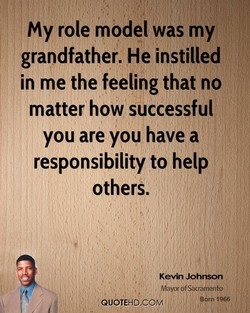 my role model was my 