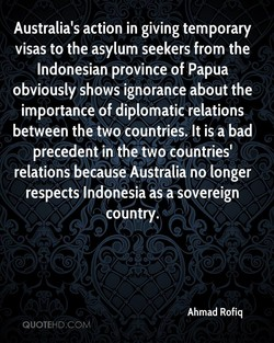 Australia's action in giving temporary 