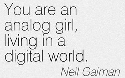 You are an 
