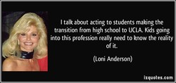 I talk about acting to students making the 